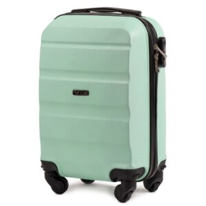 Мини чемодан (XS) Wings AT01 | пластиковый | ментоловый | 50x32x18 см | 27 л | 2,4 кг