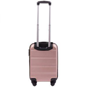 Мини чемодан (XS) Wings AT01 | пластиковый | розово-золотой | 50x32x18 см | 27 л | 2,4 кг