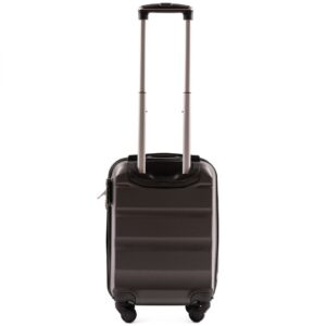 Мини чемодан (XS) Wings AT01 | пластиковый | темно-серый | 50x32x18 см | 27 л | 2,4 кг