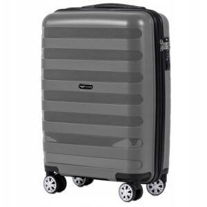 Маленький чемодан (S) Wings PP07 | полипропилен | серый | 55x40x20 см | 35 л | 2,6 кг