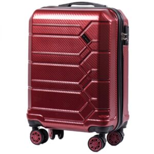 Маленький чемодан (S) Wings 185 | поликарбонат | бордовый | 55x40x20 см | 35 л | 2,6 кг