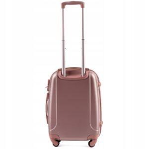 Маленький чемодан (S) Wings K-310 | пластиковый | розово-золотой | 55x40x20(+5) см | 35/47 л | 2,6 кг
