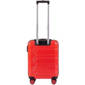 Маленький чемодан (S) Wings 185 | поликарбонат | красный | 55x40x20 см | 35 л | 2,6 кг