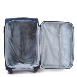 Средний чемодан (M) на 2 колесах   Wings 1708-2k   тканевый