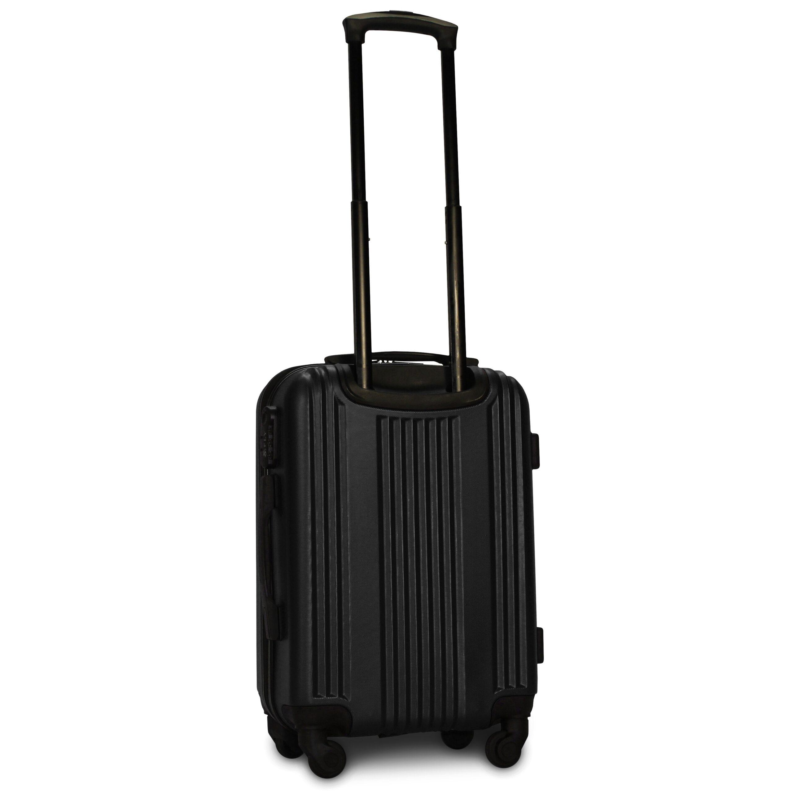 Маленький чемодан (S) Fly 614 | пластиковый | черный | 55x40x20 см | 35 л | 2,6 кг