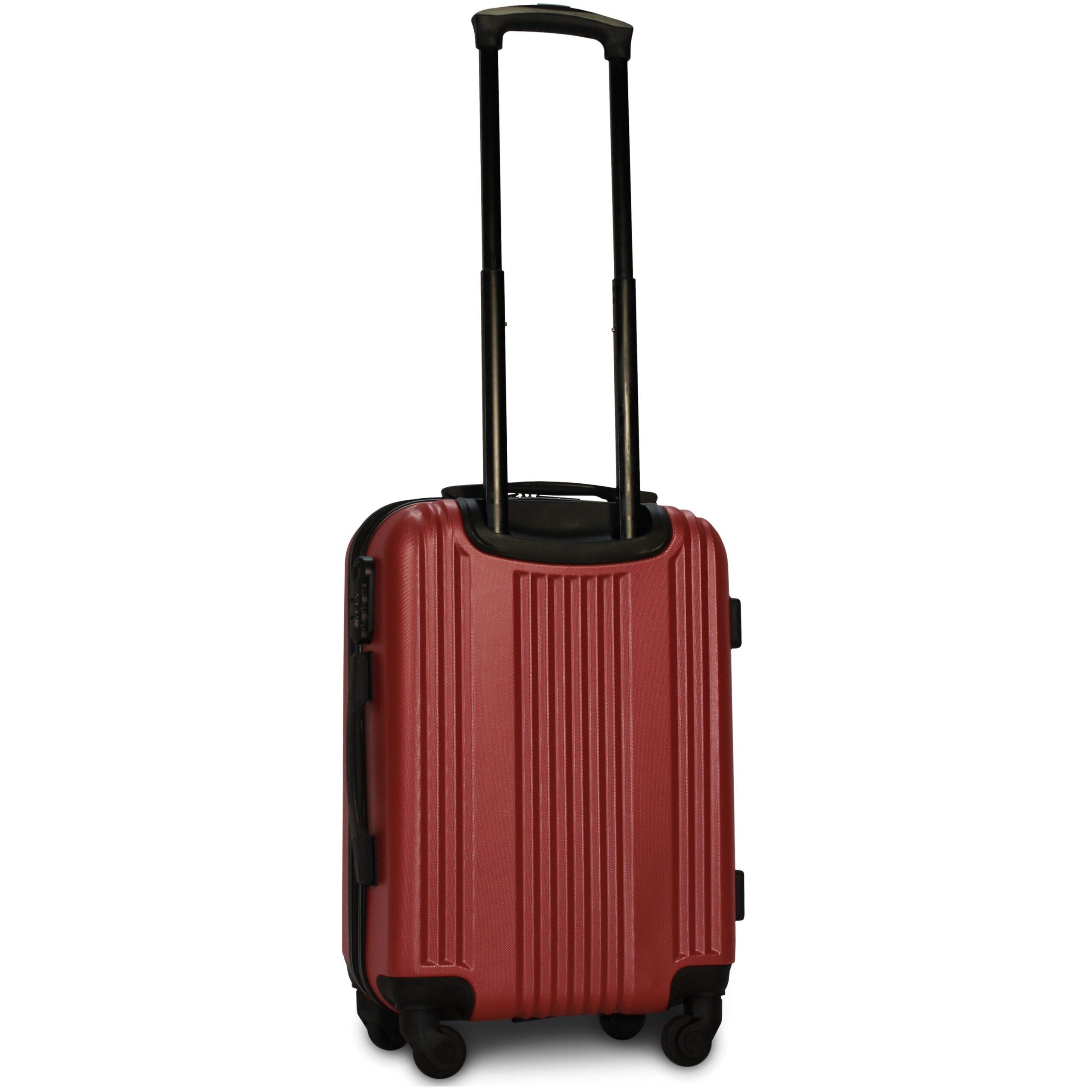 Маленький чемодан (S) Fly 614 | пластиковый | бордовый | 55x40x20 см | 35 л | 2,6 кг