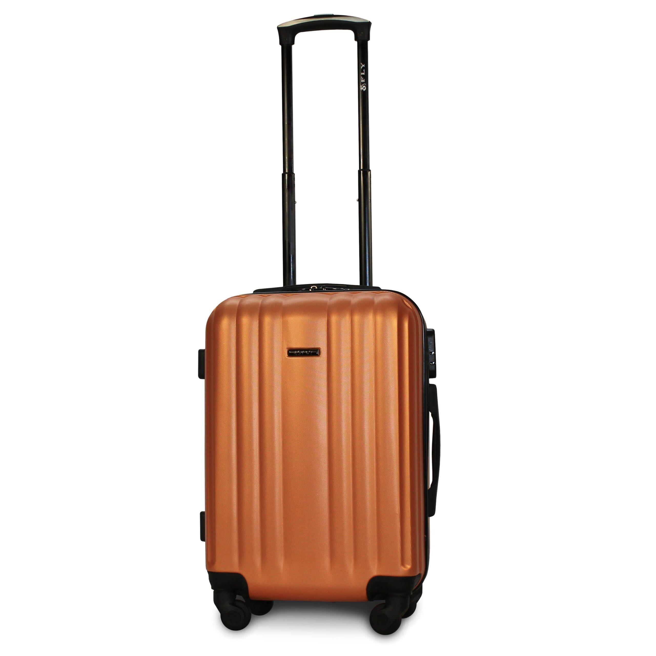Маленький чемодан (S) Fly 614 | пластиковый | оранжевый | 55x40x20 см | 35 л | 2,6 кг
