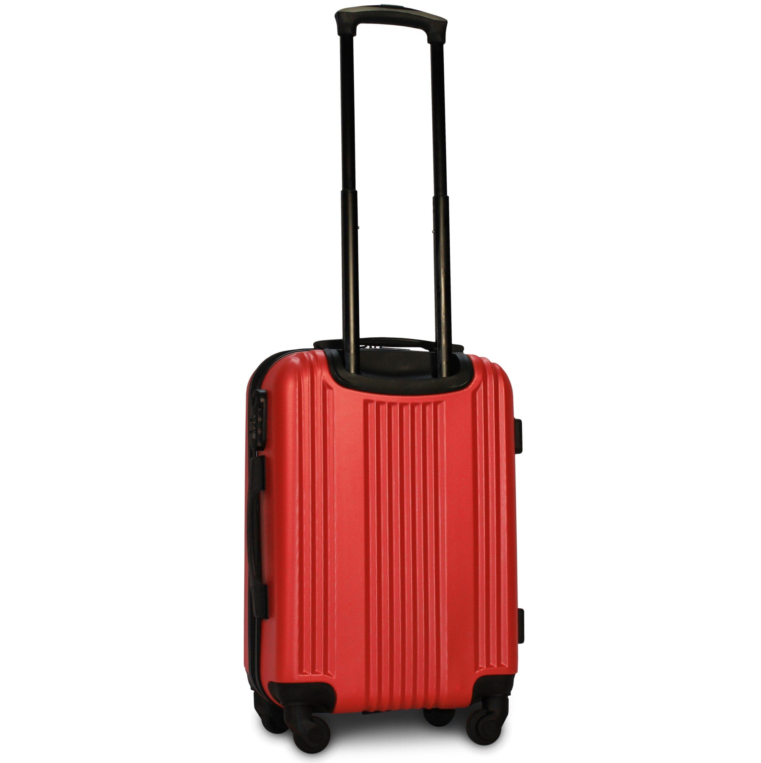 Маленький чемодан (S) Fly 614 | пластиковый | красный | 55x40x20 см | 35 л | 2,6 кг