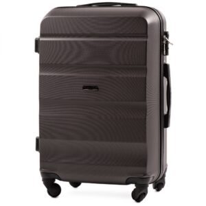 Средний чемодан (M) Wings AT01 | пластиковый | темно-серый | 64x44x26 см | 62 л | 3,15 кг