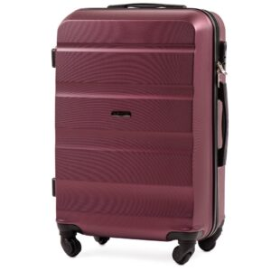 Средний чемодан (M) Wings AT01 | пластиковый | бордовый | 64x44x26 см | 62 л | 3,15 кг