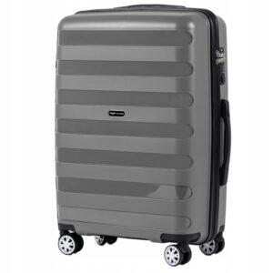 Средний чемодан (M) Wings PP07 | полипропилен | серый | 64x44x26 см | 62 л | 3,15 кг
