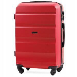 Средний чемодан (M) Wings AT01   пластиковый   красный   64x44x26 см   62 л   3,15 кг