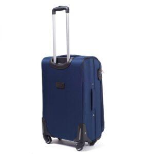 Средний чемодан (M) на 4 колесах | Wings 1706-4k | тканевый