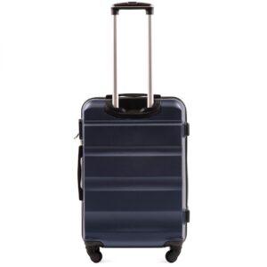 Средний чемодан (M) Wings AT01 | пластиковый | темно-синий | 64x44x26 см | 62 л | 3,15 кг