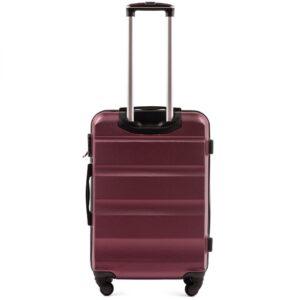 Средний чемодан (M) на 4 колесах | Wings AT01 | пластиковый