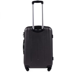 Средний чемодан (M) на 4 колесах | Wings 304 | пластиковый