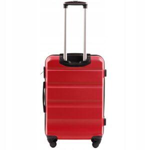 Средний чемодан (M) Wings AT01 | пластиковый | красный | 64x44x26 см | 62 л | 3,15 кг