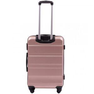 Средний чемодан (M) Wings AT01   пластиковый   розово-золотой   64x44x26 см   62 л   3,15 кг
