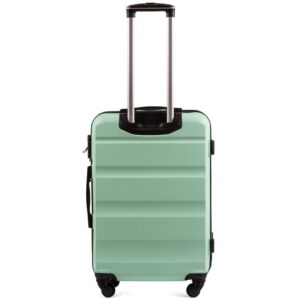 Средний чемодан (M) Wings AT01 | пластиковый | ментоловый | 64x44x26 см | 62 л | 3,15 кг