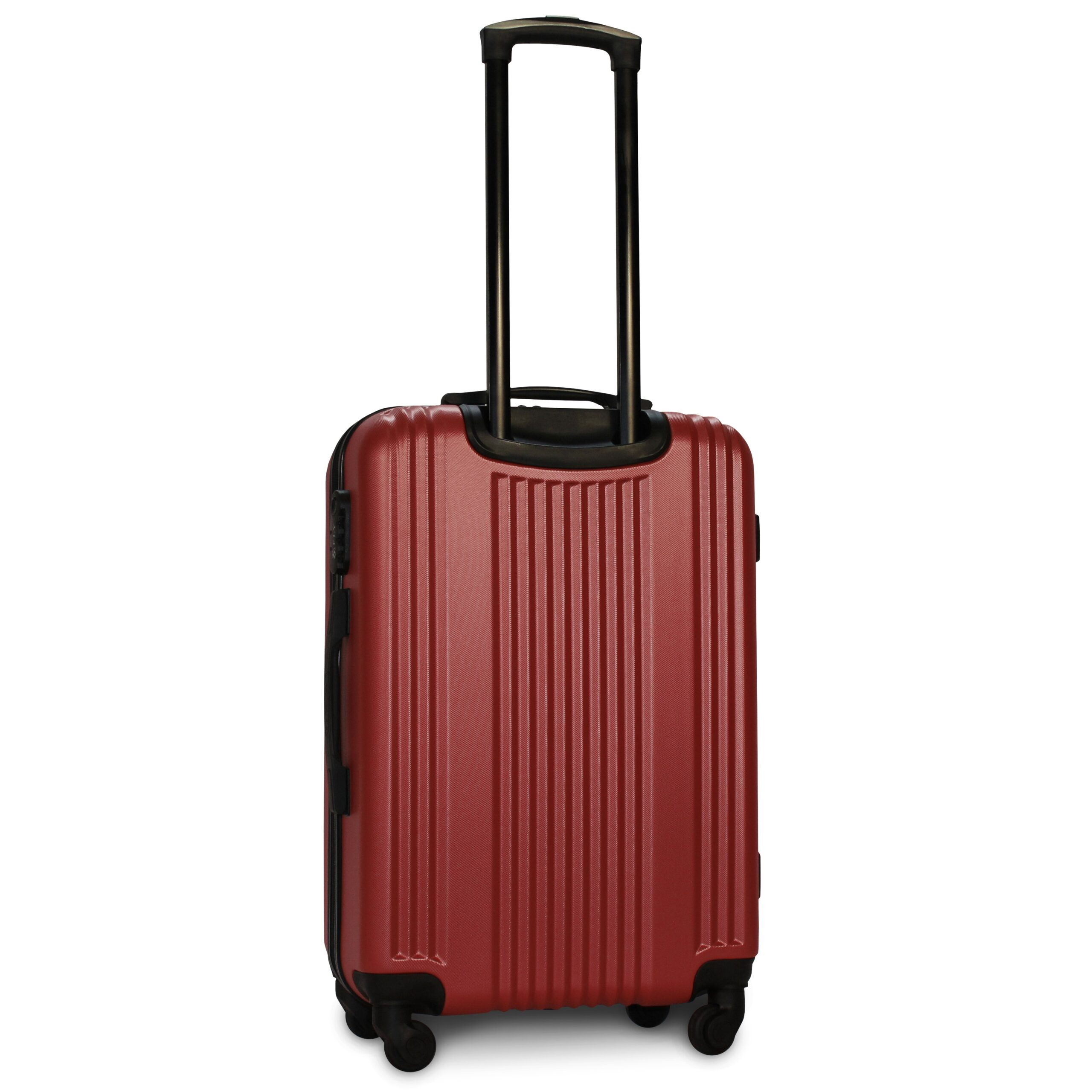 Средний чемодан (M) Fly 614 | пластиковый | бордовый | 64x44x26 см | 62 л | 3,15 кг