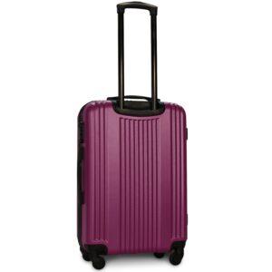 Средний чемодан (M) Fly 614 | пластиковый | темно-фиолетовый | 64x44x26 см | 62 л | 3,15 кг