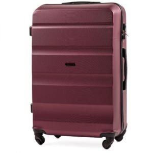 Большой чемодан (L) Wings AT01 | пластиковый | бордовый | 74x50x29 см | 86 л | 3,95 кг