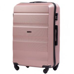 Большой чемодан (L) Wings AT01 | пластиковый | розово-золотой | 74x50x29 см | 86 л | 3,95 кг