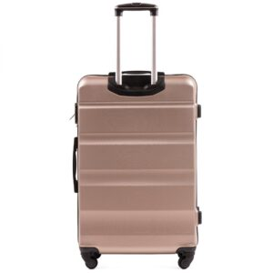 Большой чемодан (L) Wings AT01 | пластиковый | шампань | 74x50x29 см | 86 л | 3,95 кг
