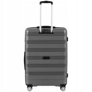 Большой чемодан (L) Wings PP07 | полипропилен | серый | 74x50x29 см | 86 л | 3,95 кг