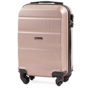 Мини чемодан (XS) Wings AT01 | пластиковый | шампань | 50x32x18 см | 27 л | 2,4 кг
