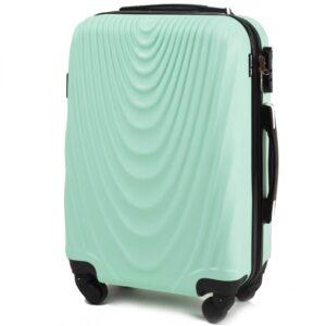 Маленький чемодан (S) на 4 колесах | Wings 304 | пластиковый | для ручной клади