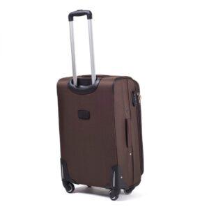 Комплект чемоданов на 4 колесах | Wings 1706-4k | тканевый