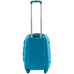 Маленький чемодан (S) на 4 колесах | Wings k-310 | пластиковый | для ручной клади