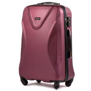 Маленький чемодан (S) на 4 колесах | Wings 518 | пластиковый | для ручной клади