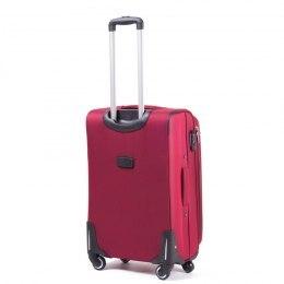 Большой чемодан (L) на 4 колесах   Wings 1706-4k   тканевый