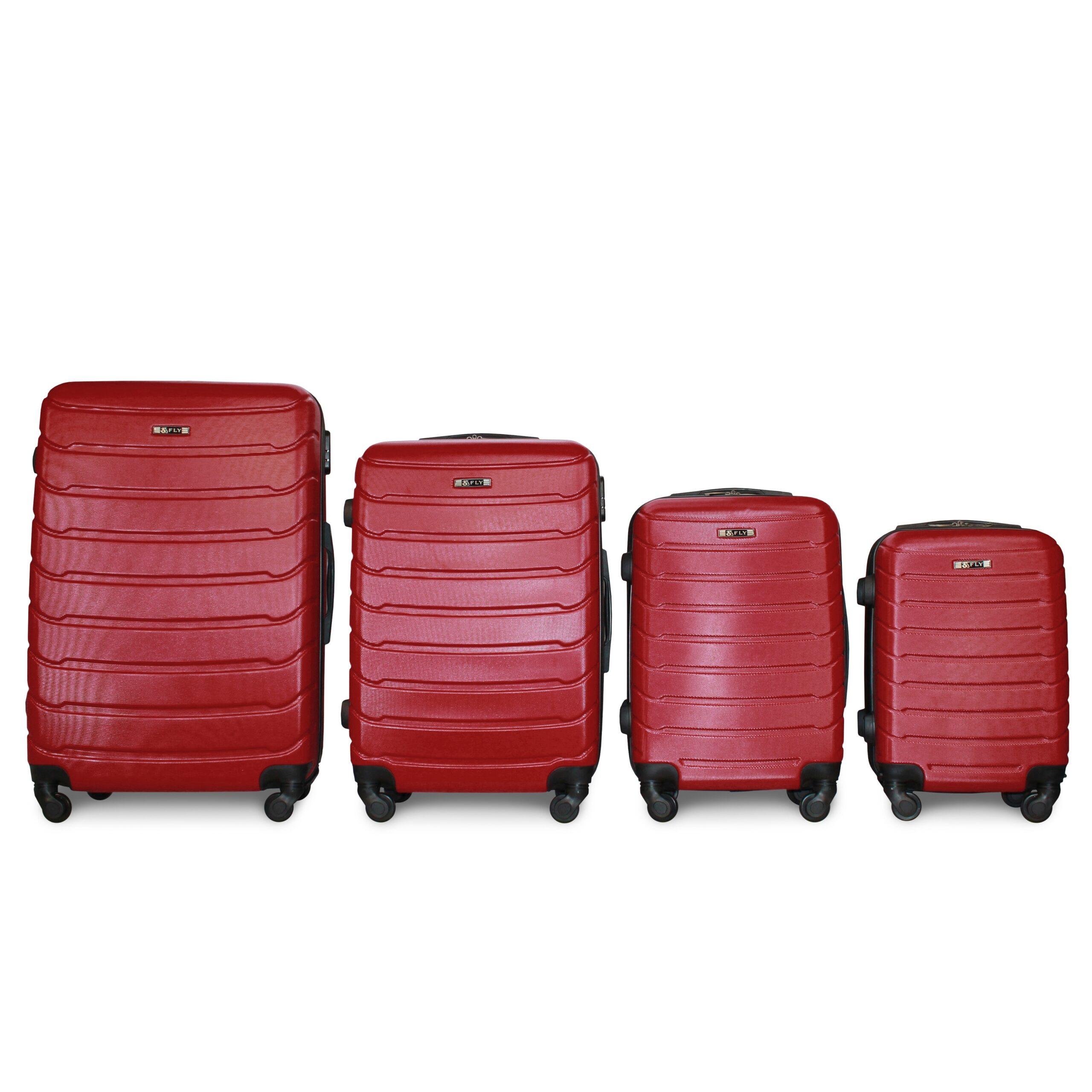 Комплект чемоданов на 4 колесах | Fly 1107 | пластиковый