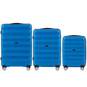 Комплект чемоданов на 4 колесах | Wings PP07 | полипропилен