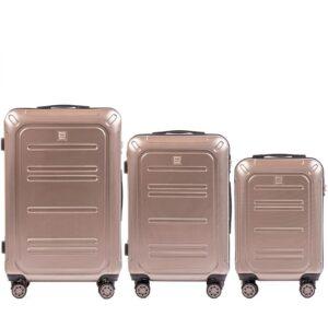 Комплект чемоданов на 4 колесах | Wings 175 | поликарбонат