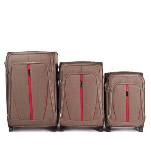 Комплект чемоданов на 2 колесах | Wings 1706-2k | тканевый