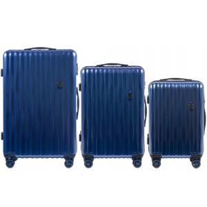 Комплект чемоданов на 4 колесах | Wings 5223 | поликарбонат