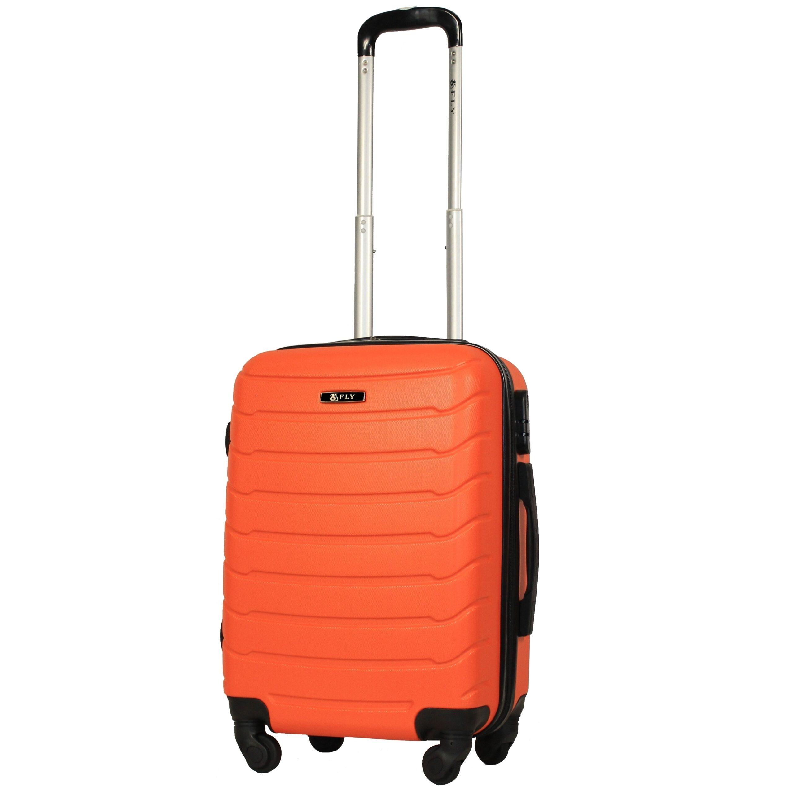 Маленький чемодан (S) на 4 колесах   Fly 1107   пластиковый   для ручной клади