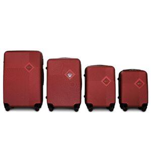 Комплект чемоданов на 4 колесах | Fly 2130 | пластиковый