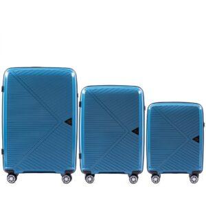 Комплект чемоданов на 4 колесах | Wings PP06 | полипропилен
