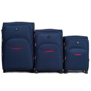 Комплект чемоданов на 2 колесах | Wings 1708-2k | тканевый