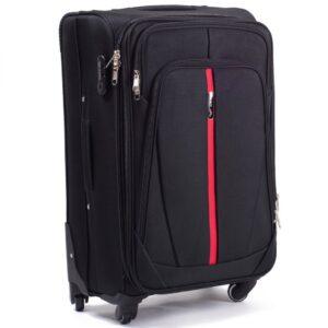 Большой чемодан (L) на 4 колесах | Wings 1706-4k | тканевый